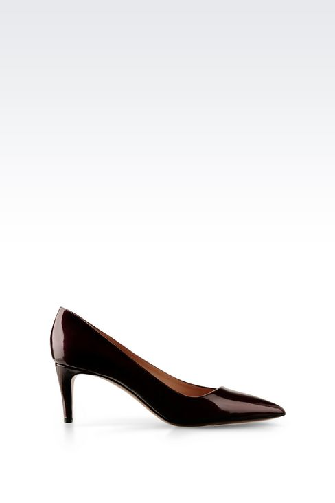 COURT SHOE IN SHINE EFFECT LEATHER: Pumps Women by Armani - 1