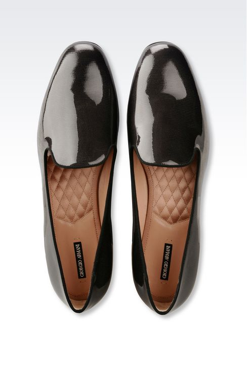 SLIP-ON IN LIZARD PRINT LEATHER: Moccasins Women by Armani - 3