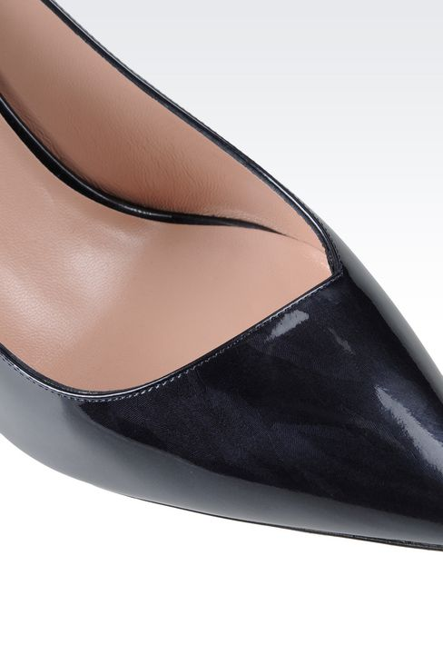 COURT IN SHINE EFFECT LEATHER: Pumps Women by Armani - 4