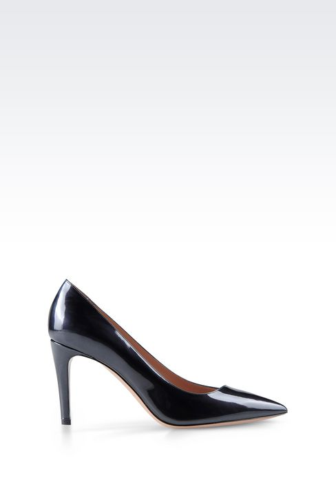 COURT IN SHINE EFFECT LEATHER: Pumps Women by Armani - 1