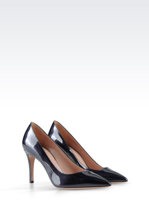 COURT IN SHINE EFFECT LEATHER: Pumps Women by Armani - 2