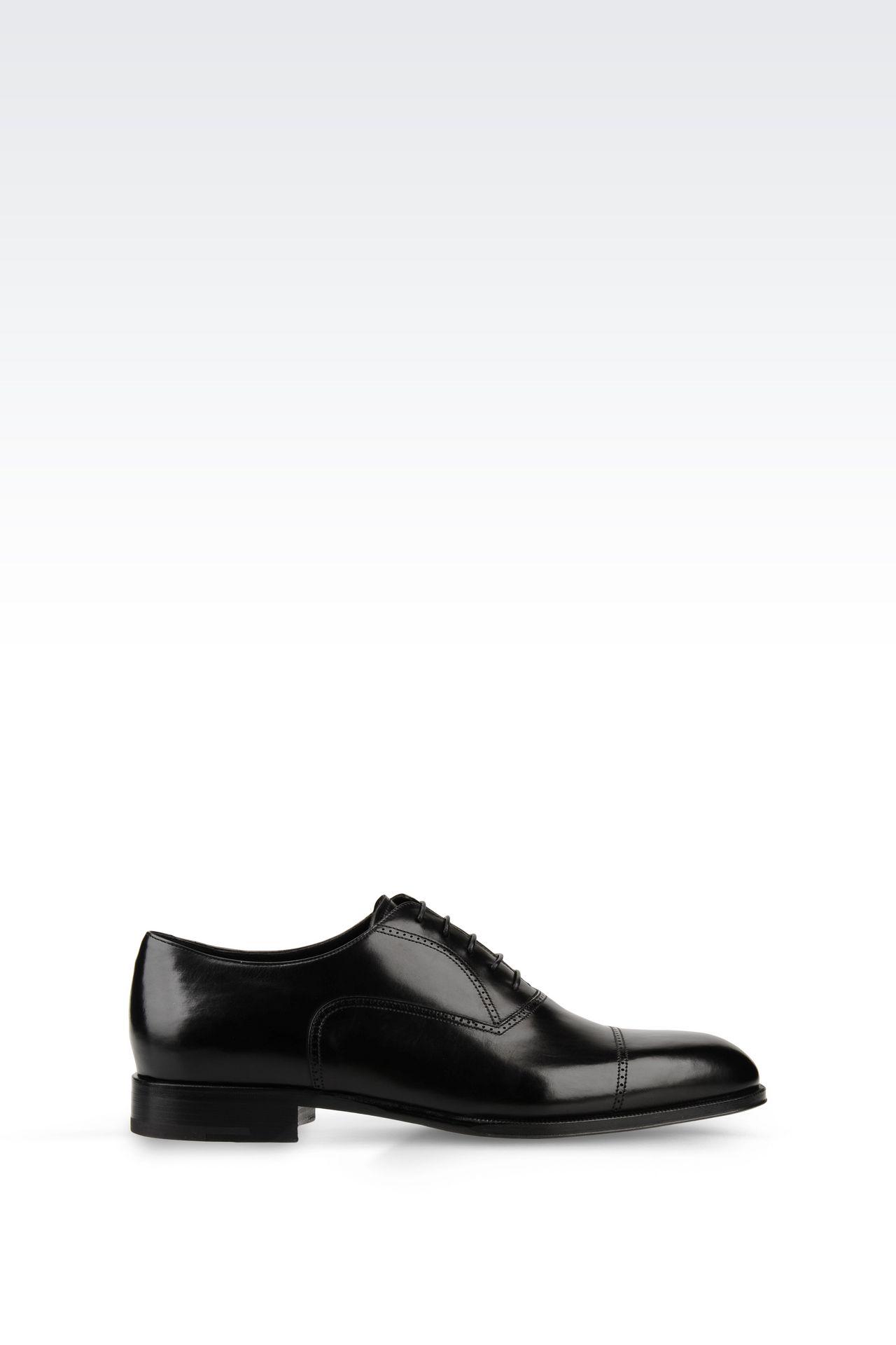 CALFSKIN BROGUE: Lace-up shoes Men by Armani - 0
