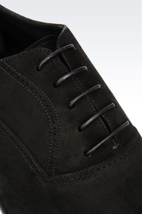 SUEDE BROGUE: Lace-up shoes Men by Armani - 4