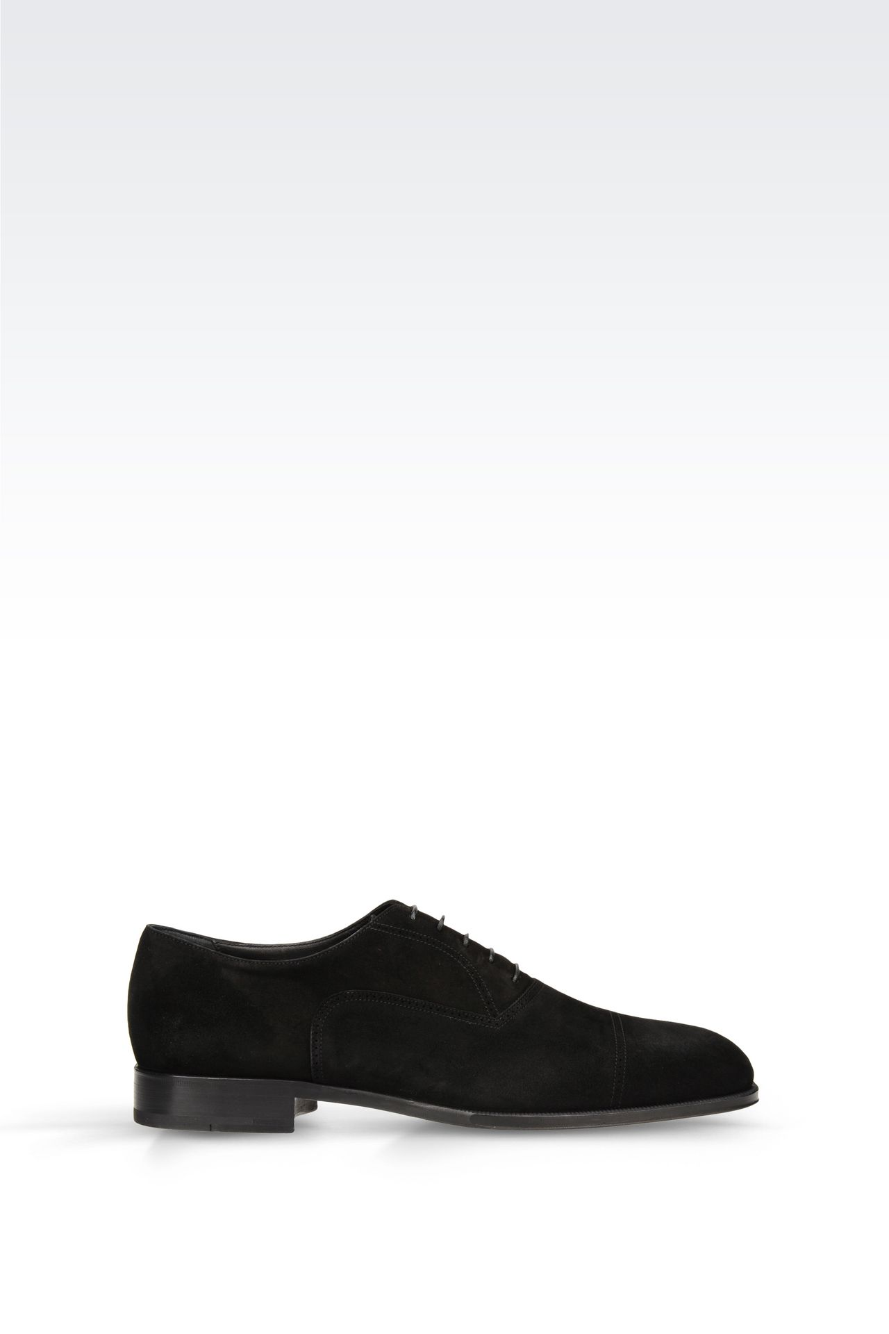 SUEDE BROGUE: Lace-up shoes Men by Armani - 0