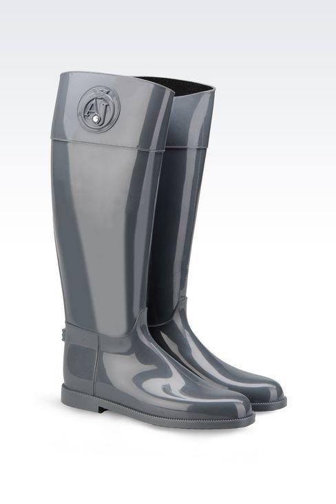 RUBBER RAIN BOOT: Rainboots Women by Armani - 2