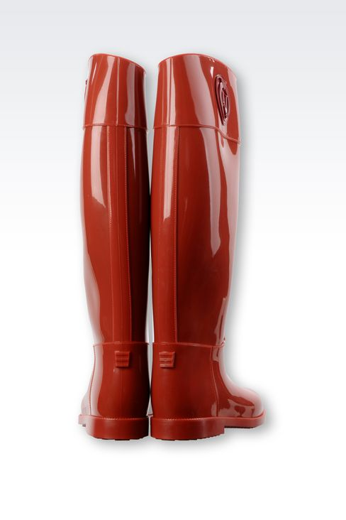 RUBBER RAIN BOOT: Rainboots Women by Armani - 3