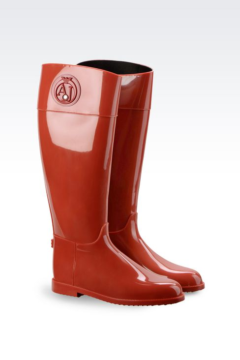 RUBBER RAIN BOOT: Rainboots Women by Armani - 2