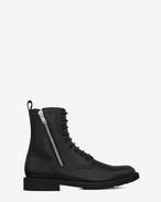 Rangers 25 Zip Boots in Black Leather