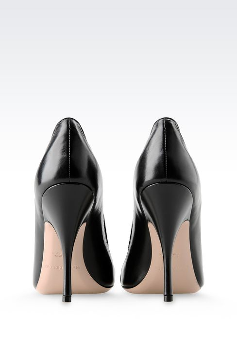 COURT IN CALFSKIN AND MESH: Pumps Women by Armani - 3