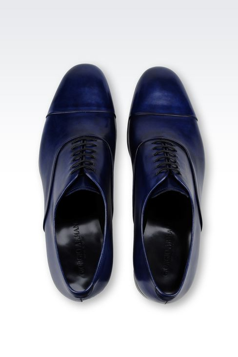 BROGUE IN CALFSKIN LEATHER: Lace-up shoes Men by Armani - 3