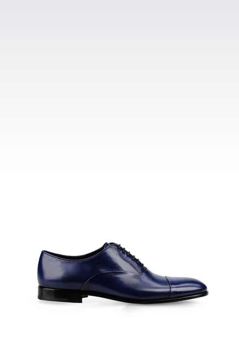 BROGUE IN CALFSKIN LEATHER: Lace-up shoes Men by Armani - 1