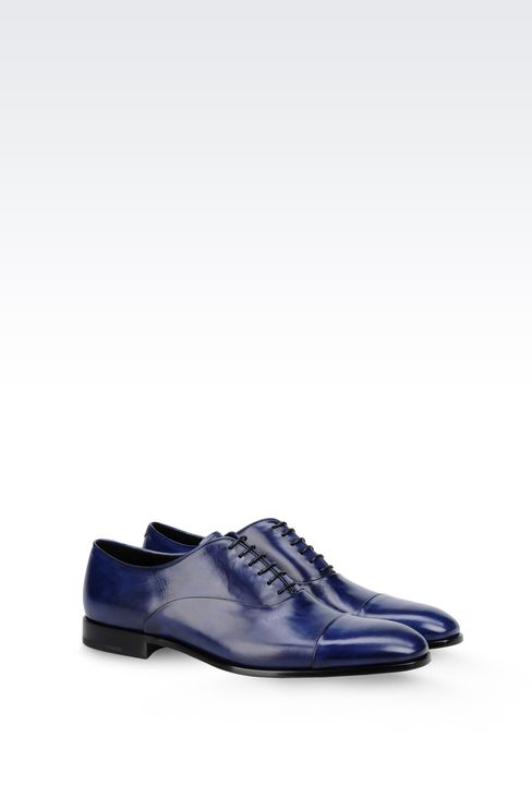 BROGUE IN CALFSKIN LEATHER: Lace-up shoes Men by Armani - 2