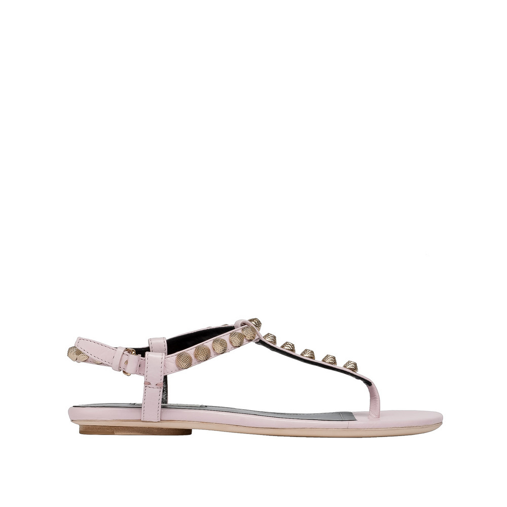 Balenciaga Giant Gold T Strap Sandals