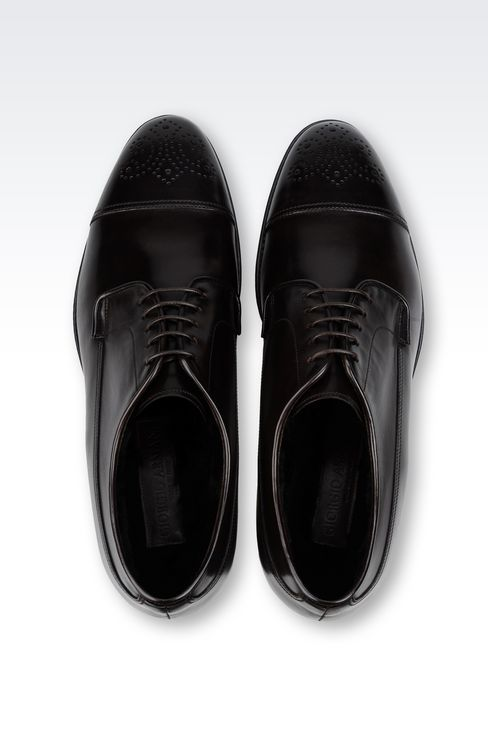 CLASSIC LEATHER DERBY: Lace-up shoes Men by Armani - 3