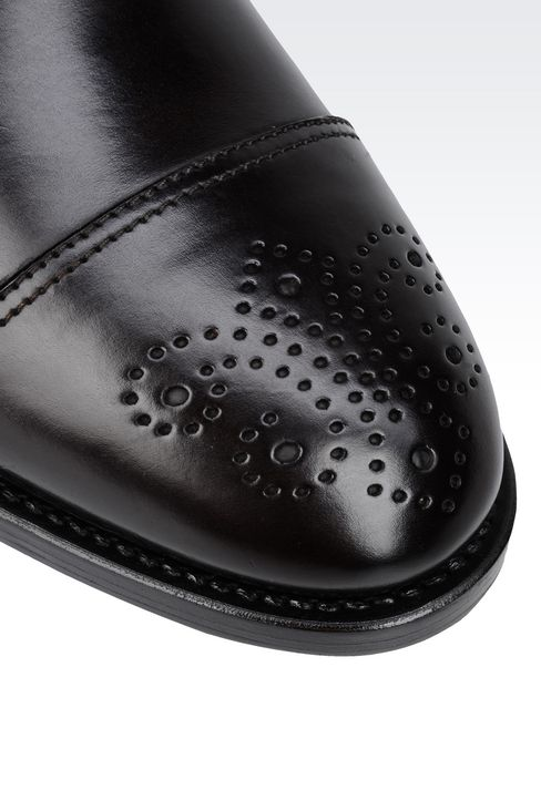 CLASSIC LEATHER DERBY: Lace-up shoes Men by Armani - 4