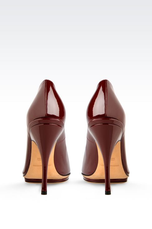 PATENT COURT SHOE WITH PLATFORM: Heeled pumps Women by Armani - 3