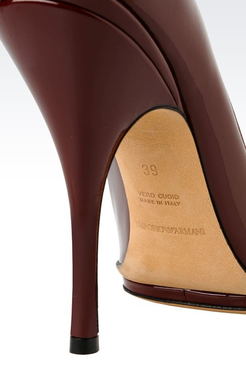 PATENT COURT SHOE WITH PLATFORM: Heeled pumps Women by Armani - 4