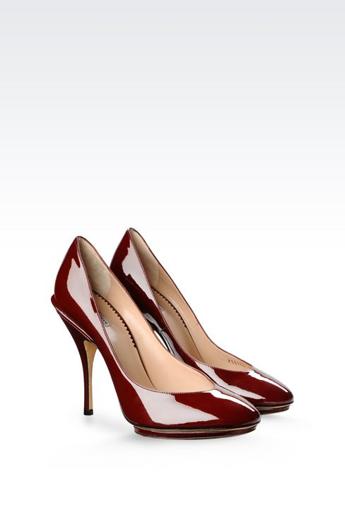 PATENT COURT SHOE WITH PLATFORM: Heeled pumps Women by Armani - 2