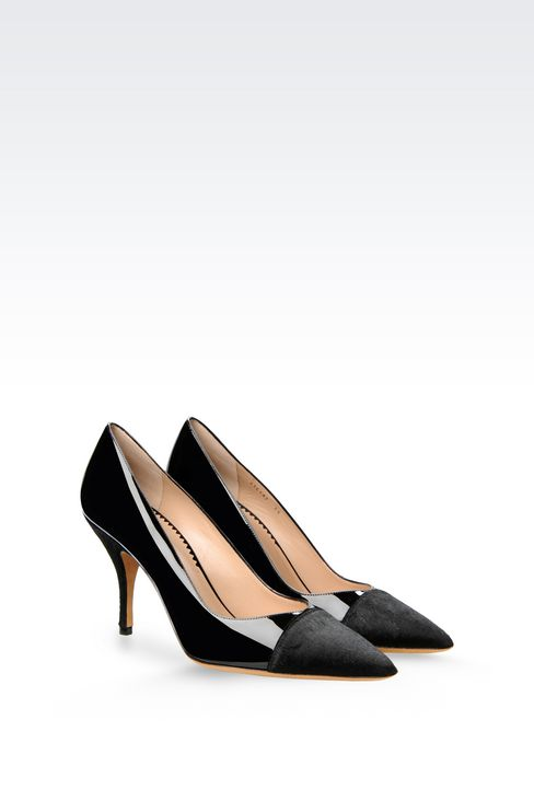 COURT SHOE IN PONY SKIN AND PATENT: Heeled pumps Women by Armani - 2