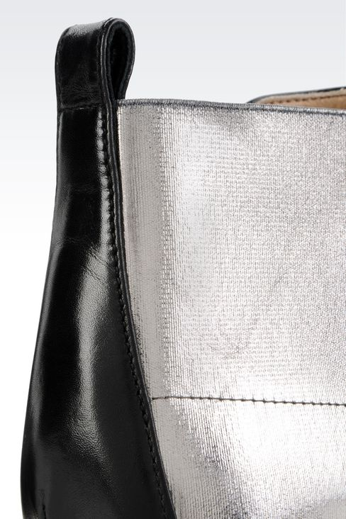 CHELSEA BOOT IN METALIZED EFFECT CALFSKIN: Ankle boots Women by Armani - 4