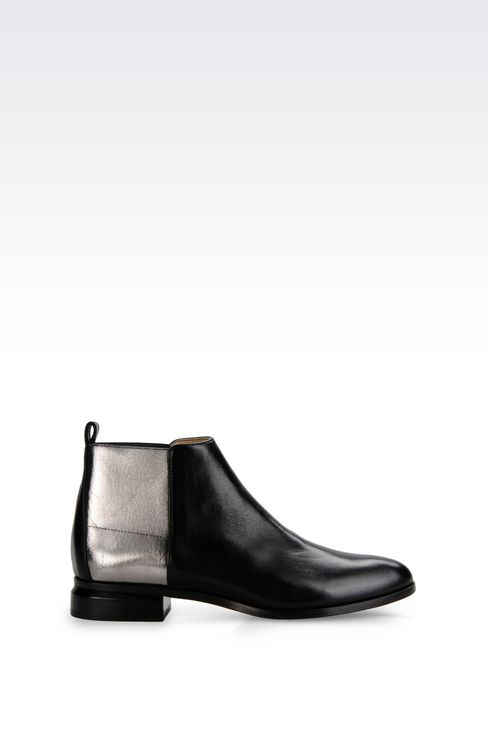 CHELSEA BOOT IN METALIZED EFFECT CALFSKIN: Ankle boots Women by Armani - 1