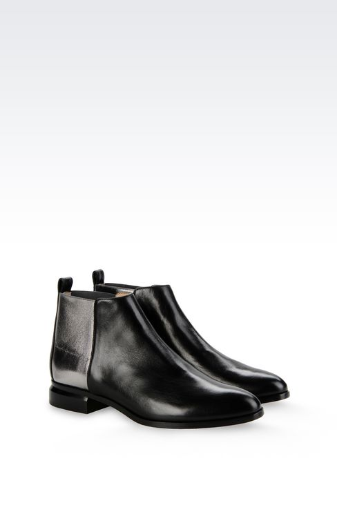 CHELSEA BOOT IN METALIZED EFFECT CALFSKIN: Ankle boots Women by Armani - 2