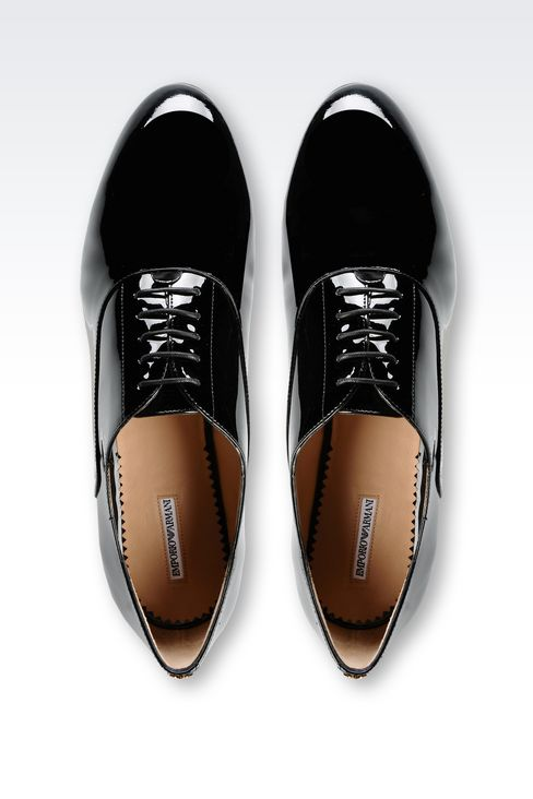 PATENT LEATHER BROGUE: Lace-up shoes Women by Armani - 3