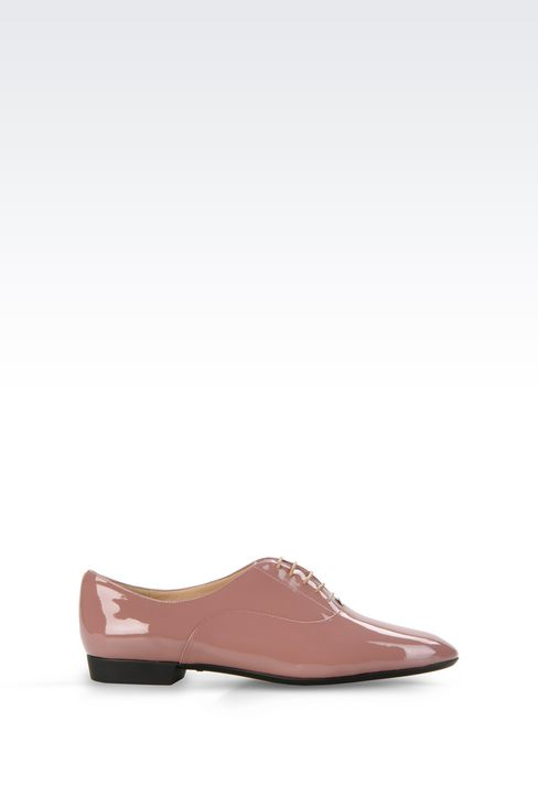 PATENT LEATHER BROGUE: Lace-up shoes Women by Armani - 1