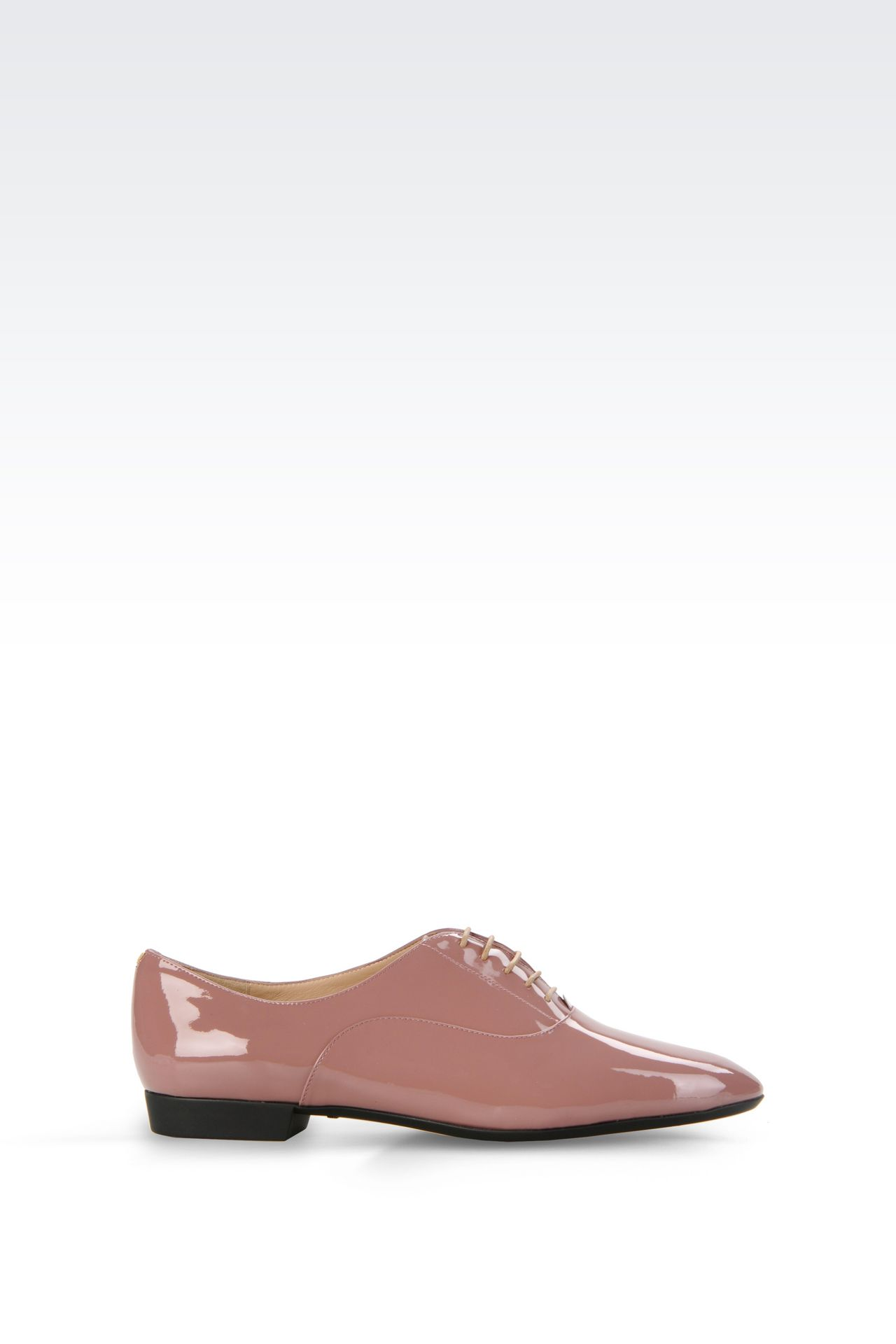 PATENT LEATHER BROGUE: Lace-up shoes Women by Armani - 0