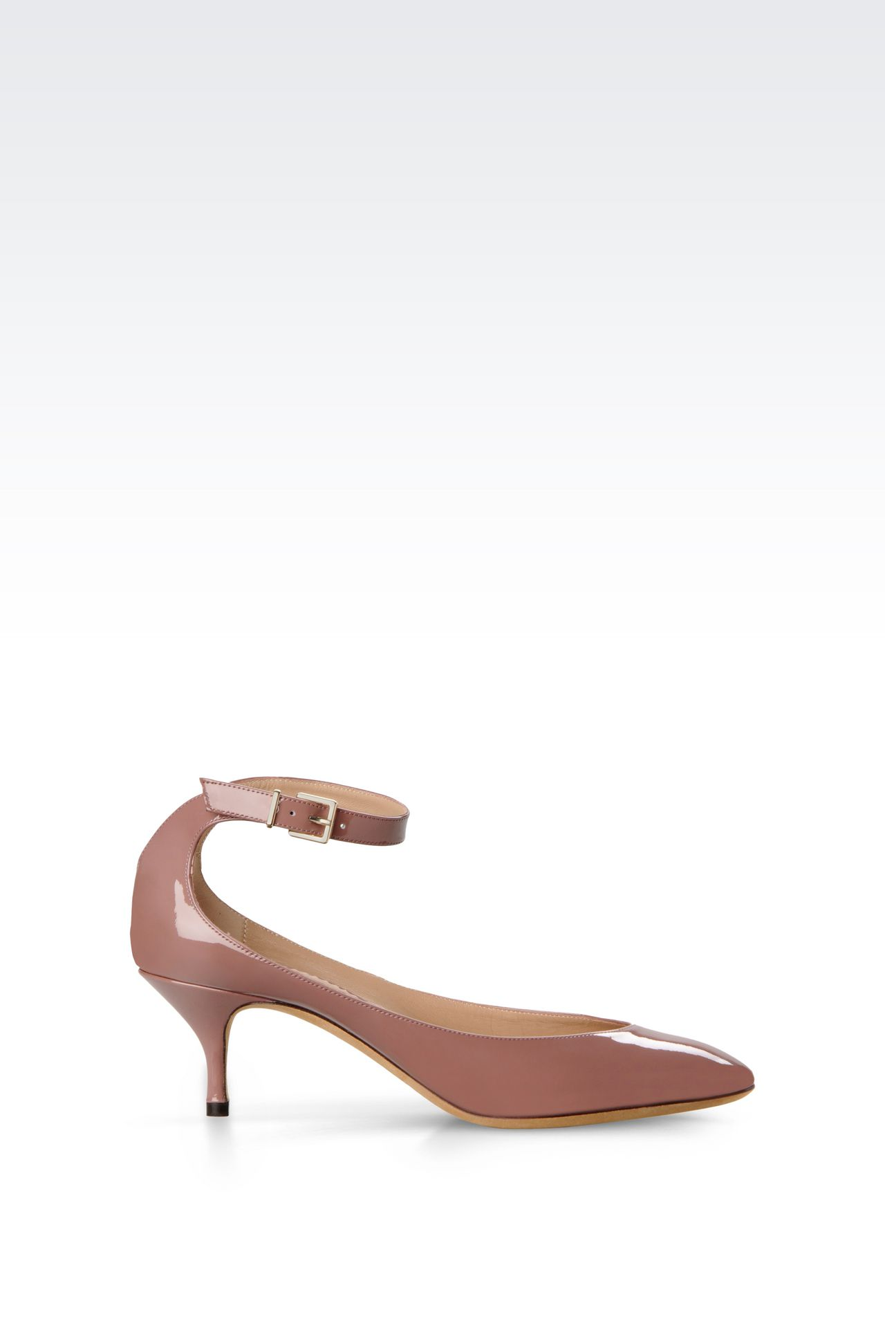 PATENT COURT SHOE WITH STRAP: Heeled pumps Women by Armani - 0