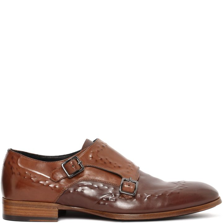 Alexander McQueen, Leather Covered Stud Double Buckle Shoe