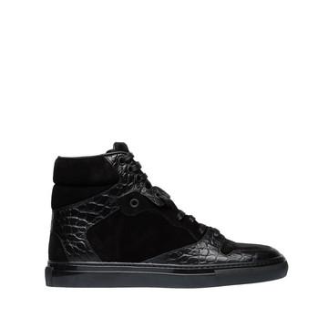 Balenciaga Monochrome Alligator Print Sneakers