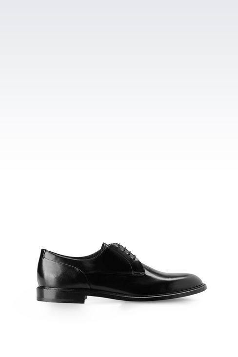 DERBY IN BRUSHED FUMÉ CALFSKIN: Lace-up shoes Men by Armani - 1