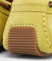 New Chartreuse Intrecciato Suede Moccasin