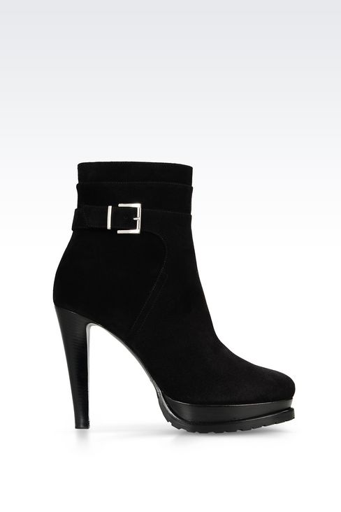 SUEDE HALF BOOT: Shoe boots Women by Armani - 1