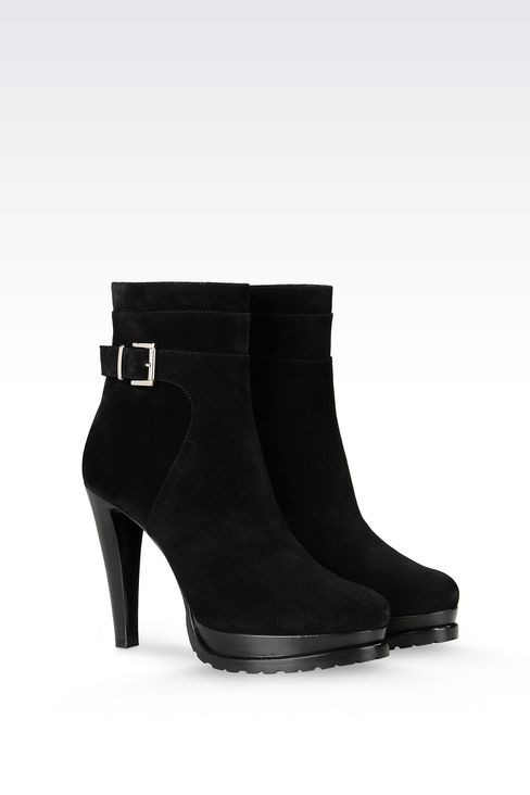 SUEDE HALF BOOT: Shoe boots Women by Armani - 2