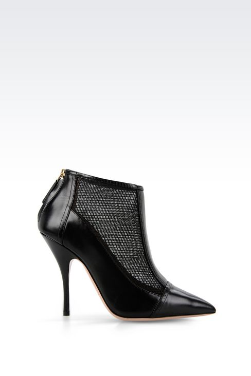 ANKLE BOOT IN CALFSKIN AND MESH: Shoe boots Women by Armani - 1
