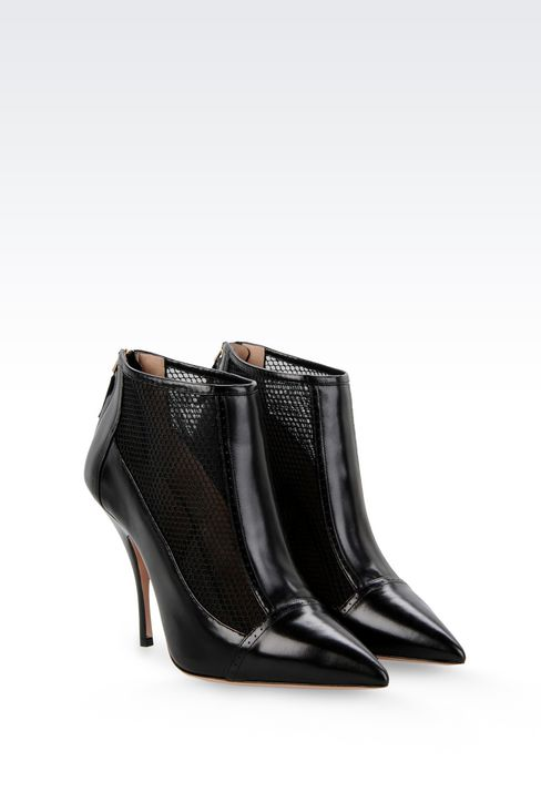 ANKLE BOOT IN CALFSKIN AND MESH: Shoe boots Women by Armani - 2