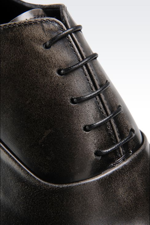 BROGUE IN BRUSHED FUMÉ CALFSKIN: Lace-up shoes Men by Armani - 4
