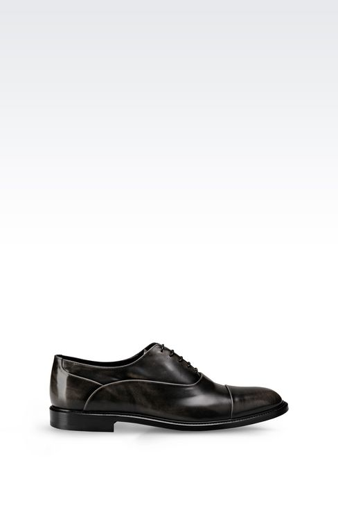 BROGUE IN BRUSHED FUMÉ CALFSKIN: Lace-up shoes Men by Armani - 1