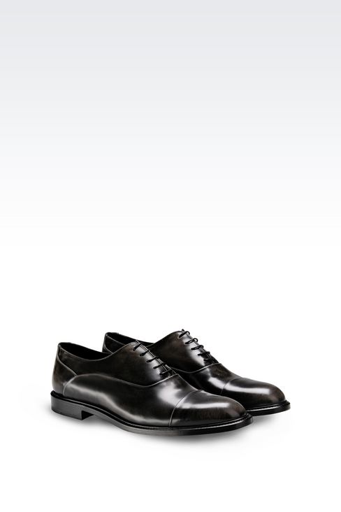 BROGUE IN BRUSHED FUMÉ CALFSKIN: Lace-up shoes Men by Armani - 2