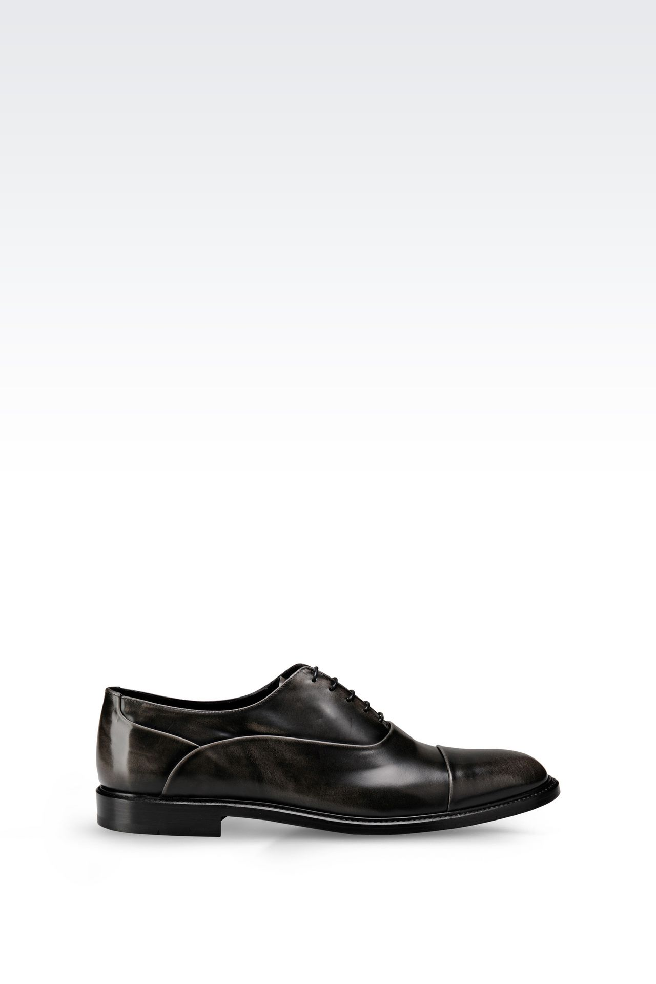 BROGUE IN BRUSHED FUMÉ CALFSKIN: Lace-up shoes Men by Armani - 0