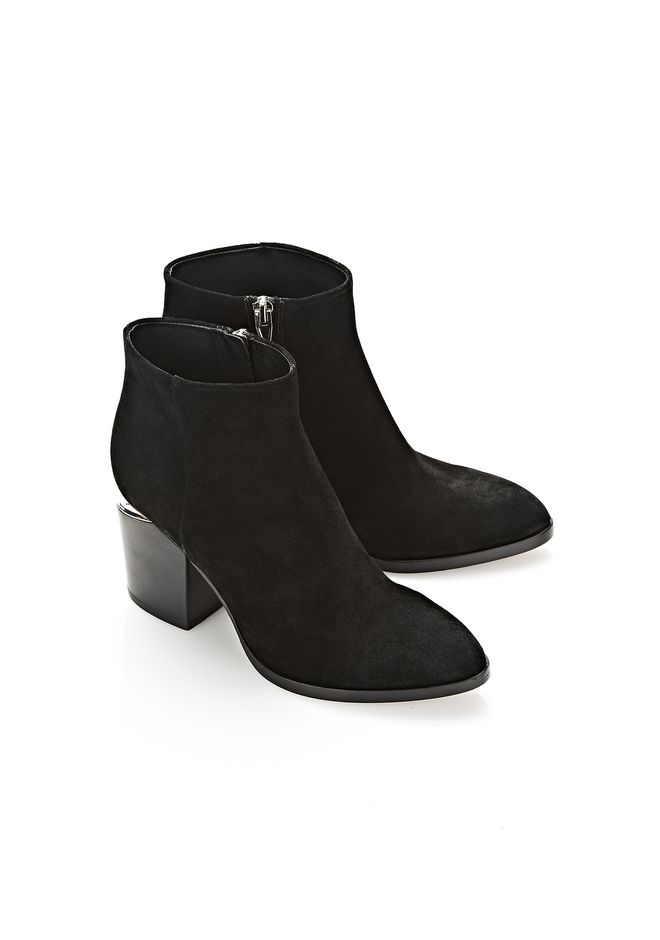 ALEXANDER WANG GABI SUEDE BOOTIE WITH RHODIUM  BOOTS Adult 12_n_r