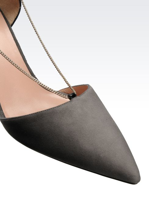 RUNWAY PUMP IN SUEDE AND PATENT WITH CHAIN: Closed-toe slip-ons  Women by Armani - 4
