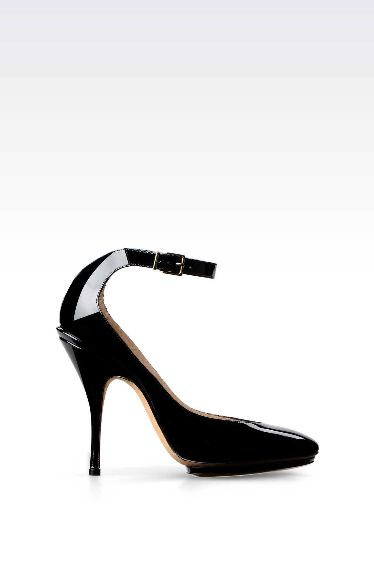 RUNWAY PUMP IN PATENT: Heeled pumps Women by Armani - 0