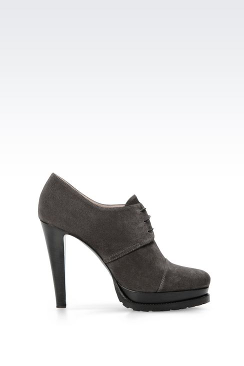 SUEDE ANKLE BOOT: Shoe boots Women by Armani - 1