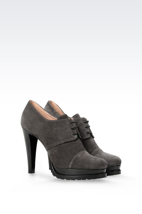 SUEDE ANKLE BOOT: Shoe boots Women by Armani - 2