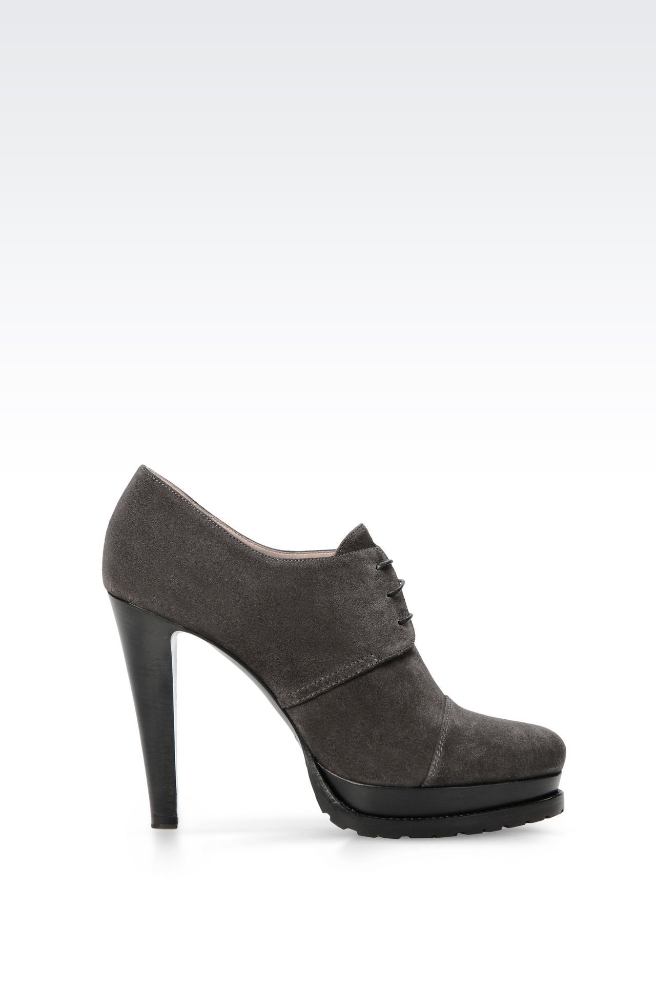SUEDE ANKLE BOOT: Shoe boots Women by Armani - 0