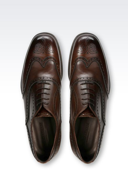 CLASSIC CALFSKIN BROGUE: Lace-up shoes Men by Armani - 3