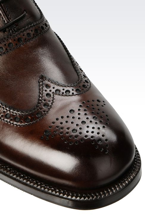 CLASSIC CALFSKIN BROGUE: Lace-up shoes Men by Armani - 4